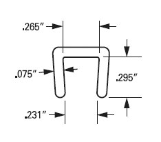 J643 Low Density Polyethylene PE Channel Specs