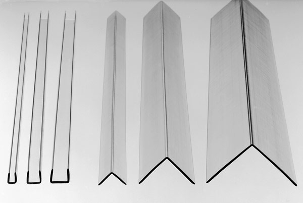 6 Clear Polycarbonate Corner Angles and Channels