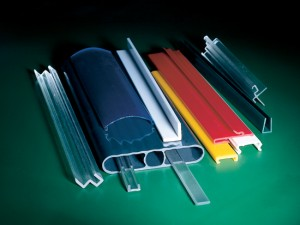 Stack of multicolored Polycarbonate (PC) & Acrylic Profiles